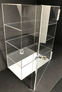 Acrylic Counter Top Display Case Acrylic Locking Show Case shelves 12 x7 x20 5