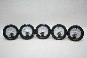 Lot Of 5 Wacline Vintage Differential Meter Model Add Fs 100 Ua