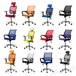 Executive Office Chair Mesh Seats Ergonomic Back Adjustable For Computer Desks