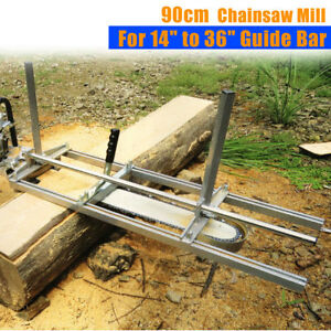 New Fit 14 36 Chainsaw Guide Bar Chain Saw Mill Log Planking Lumber Cutting