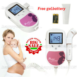 Fda Prenatal Fetal Doppler Baby Heart Monitor Gel Fhr Lcd Display 3mhz Probe