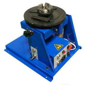 110v Rotary Welding Positioner Turntable Table 3 Jaw Lathe Chuck Load 5 10kg