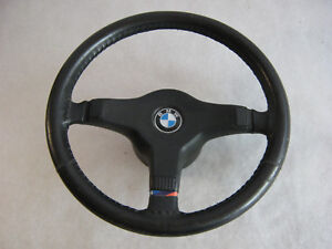 Oem Bmw E30 M3 Steering Wheel Leather m E24 E32 E34 Part Kba70074 Nice Used