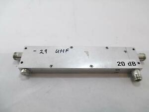 20db Uhf Directional Coupler 8 1 2 X 1 3 4 X 1 2 Untested