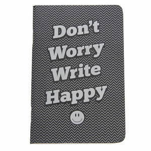 Retro 51 Don t Worry Write Happy Pocket Notebook Lined New