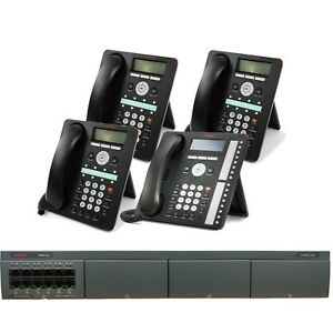 Avaya Ip Office Phone System With 4 Phones Free 1 Year Service