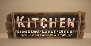 Big Kitchen Wood Sign Restaurant Bakery Diner Primitive French Country Decor