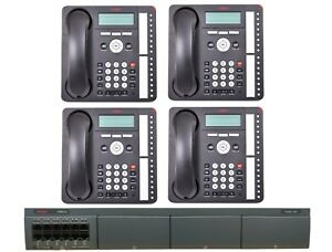 Avaya Ip Office Phone System With 4 Phones Essential Ed Free 1 Year Service