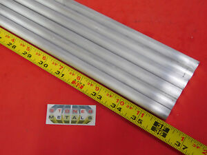 6 Pieces 1 2 Aluminum 6061 Round Rod 36 Long Solid T6511 Lathe Bar Stock