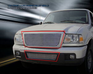 Fits 06 12 Ford Ranger Billet Grille Front Combo Grill