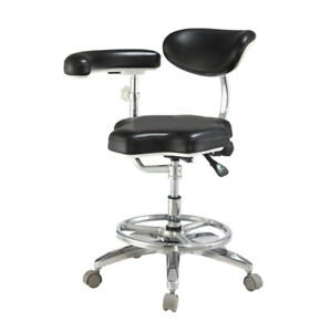 Dental Medical Doctor Stool Mobile Dentist Seat Chair Deluxe With Armrest Lov