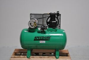 Speedaire Statinonary Air Compressor Horizontal Tank Mounted 3hp Electric