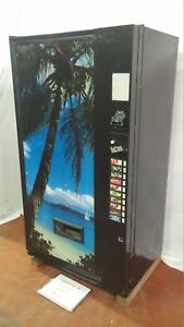 Vendo 511 10 Selections Can bottle Multi price Mdb dex Beach Scene Front