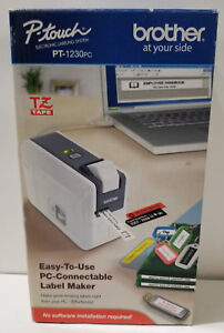 Brother Pc connectable Label Maker Pt 1230pc