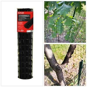 Black Vinyl Welded Wire Fence 4 Ft X 50 Ft pvc Coated Yard Animals Garden Mesh