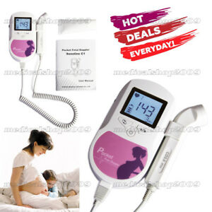 Promotion Pocket Fetal Doppler Lcd 3mhz Prenatal Heart Rate Baby Monitor gel