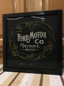 Ford Motor Co Detroit Michigan Man Cave Rat Rod Garage Gas Oil Parts Tools Auto