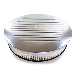Bandit Air Cleaner Assembly 6817 Ball Milled Polished Aluminum Round 14 X 4