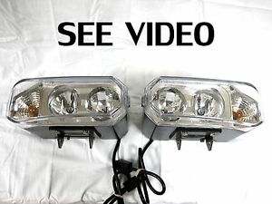 New Design Super Bright Hiniker Quad Halogen 4x4 Off Road Lights W Turn Signal 2