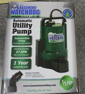 New Bwu033pas Basement Watchdog 1 3 Hp 2200 Gph Plastic Submersible Utility Pump