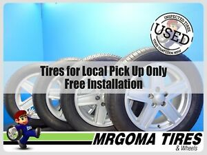 4 Wheels Jeep 17x6 5 Used Rims 235 55 17 Continental Michelin Tires 6 5x17
