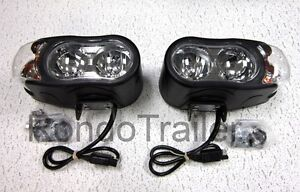 Super Bright Hiniker Quad Halogen Snow Plow Lights Pair With Turn Signals Set