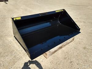 New High Capacity Dirt Material Bucket 60 66 72 78 84 Skid Steer Track Loader
