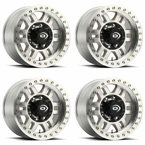 4x Vision 17x8 5 398bl Manx Competition Beadlock Wheels Machined 6x5 5 15mm