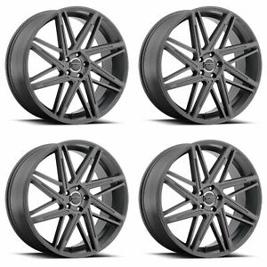 4x Vision 22 9062 Blitz Wheels Anthracite 22x9 5x4 5 5x114 3 38mm 6 5