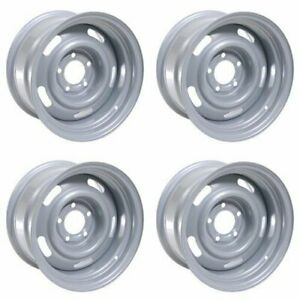 4x Vision 15 55 Rally Wheels Silver 15x10 5x4 5 5x114 3 5x4 75 5x120 65 32mm