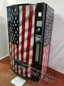 Vendo 511 10 Selections Can bottle Vending Machine Mdb dex Usa Flag Front