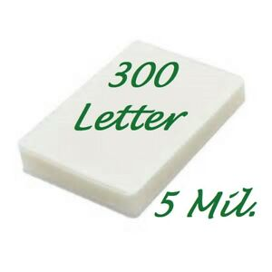 300 Letter Laminating Pouches Laminator Sheets 9 X 11 1 2 5 Mil Scotch Quality
