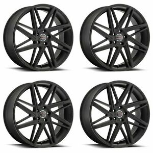 4x Vision 22 9062 Blitz Wheels Satin Black 22x9 5x4 5 5x114 3 38mm 6 5