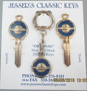 Oldsmobile Globe Logo B 10 Ultimate Classic Keys Set 1936 1963 1964 1965 1966