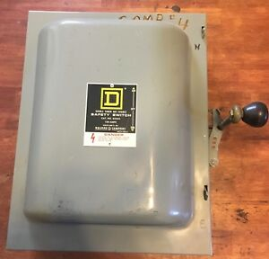 Square D 82343 100 Amp 600 Vac Double Throw Manual Transfer Switch 3 pole
