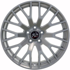 19 Ford Mustang Gt Replacement Rims Wheels Staggered Hyper Silver Set Of 4 New