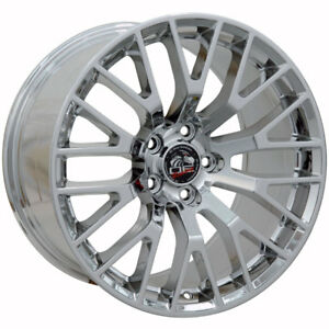 19 Ford Mustang Gt Replacement Rims Wheels Staggered Chrome Set Of 4 New