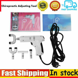 110 220v Pro Chiropractic Tool Electric Spine Adjusting Corrector 4 Heads Mr