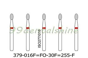 50pcs Fo 30f 255 f Egg New Dental Diamond Burs Fg For High Speed Handpiece