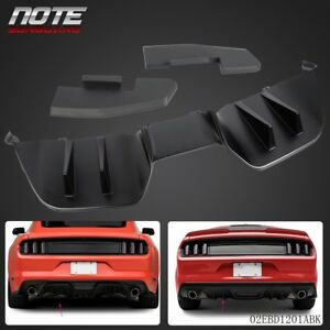 Rear Black Abs Bumper Lip Diffuser Bodykits For 2015 2017 Ford Mustang Premium