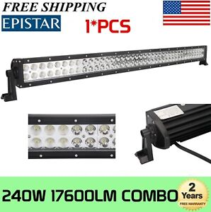 4d 42inch 240w Cree Led Work Light Bar Spot Flood Combo Offroad Pickup 4wd 44