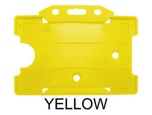 Yellow Id Landscape Horizontal Single Sided Badge Tag Work Pass Case Card Holder