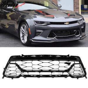Fits 16 18 Chevy Camaro 50th Anniversary Front Lower Grille Black