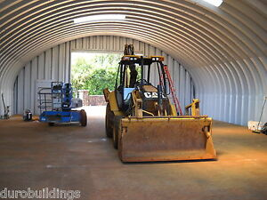 Durospan Steel 40x32x20 Metal Building Machinery Barn Open Ends Factory Direct