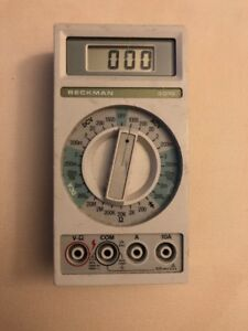 Vintage Beckman 3010 Digital Multimeter Very Good Condition Made In Usa
