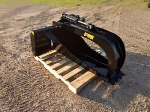 New Hd Stump Grapple 1 25 Cutting Edge 75 Side Cutting Teeth Deep Skid Steer