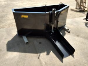 New Concrete Bucket 3 4 And 1 Yard 24 Add On Chute Hydraulic Door Skid Steer