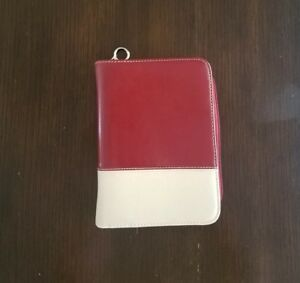 Compact 1 5 Rings Red white Franklin Covey Planner 6 Ring Binder Organizer