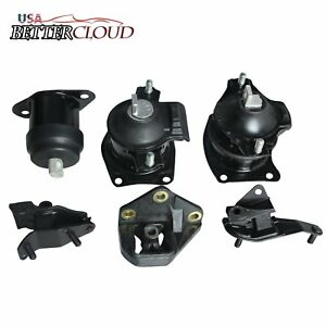 6x Engine Motor Trans Mount Set Fit Auto For 2003 2007 Honda Accord 2 4l