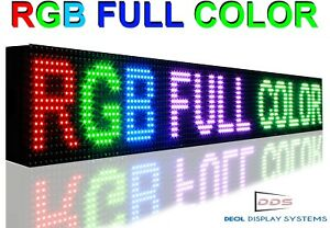 New 6 X 38 Full Color 10mm Programmable Led Sign Open Scrolling Window Display